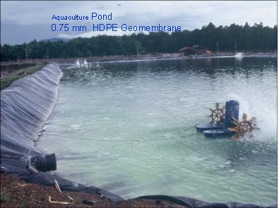 Hdpe geomembrane for Design of oxidation pond